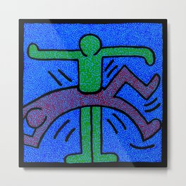 Keith Haring Humans Metal Print