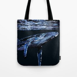 Dark Water Whale Tote Bag