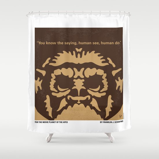 No270 My PLANET OF THE APES minimal movie poster Shower Curtain