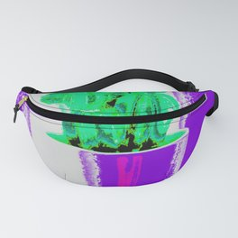 Cactus on the violet Fanny Pack