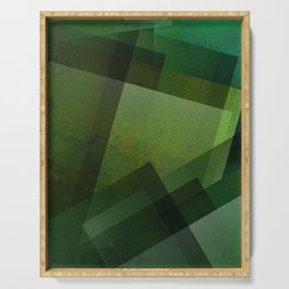 Charming Chartreuse Green - Digital Geometric Texture Serving Tray