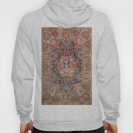 Persia Carpet 19th Century Authentic Colorful Black Blue Red Vintage Patterns Hoody