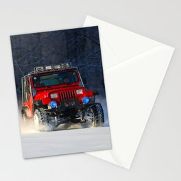 Winter offroad Stationery Cards