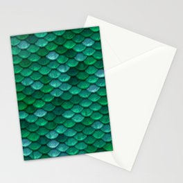 Green Penny Scales Stationery Cards