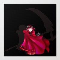 rwby Canvas Prints featuring RWBY - The Grimm Reaper by nerdgasmz