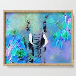 ELEPHANT BLUE Serving Tray
