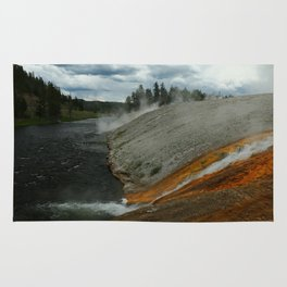 Thermal Geyser Runoff Into Firehole River Rug