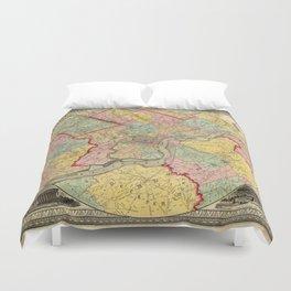 Map of Philadelphia 1849 Duvet Cover