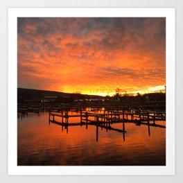 Seneca Harbor Sunrise Art Print