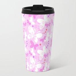 Butterfly Dream Travel - pink Travel Mug