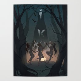 Drawlloween Coven Poster