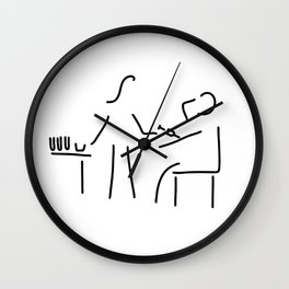 assistant of doctor Wall Clock