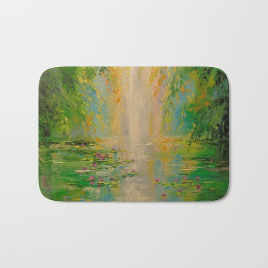 By the pond Bath Mat