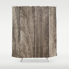 Old Wood Shower Curtain