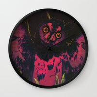 wings Wall Clocks featuring WINGS by Galvanise The Dog