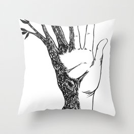 Natural Connection Throw Pillow