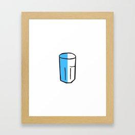 Half full glass Framed Art Print