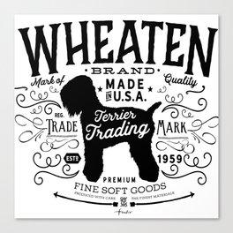 Wheaten Trading Co. dog art Canvas Print