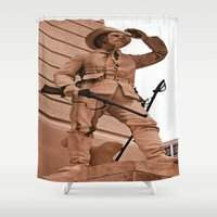 battlefield Shower Curtains featuring Battlefield by Photaugraffiti