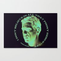 steve mcqueen Canvas Prints featuring Steve McQueen by RSassi