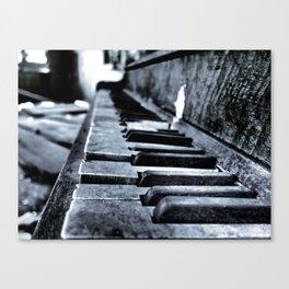 Forgotten Piano Canvas Print