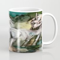 unicorns Mugs featuring Unicorns by osile ignacio