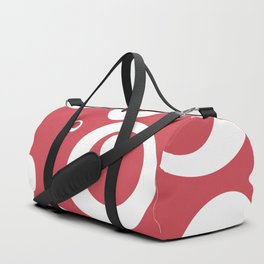 Circles Dots Bubbles :: Berry Blush Duffle Bag