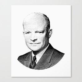 President Dwight Eisenhower Graphic Canvas Print