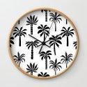Palm Trees linocut black and white tropical summer art minimalist decor by monoo