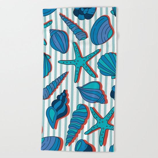 summer time blue  Beach Towel