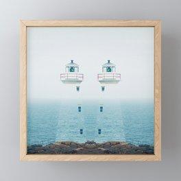 Lighthouse Twins Framed Mini Art Print