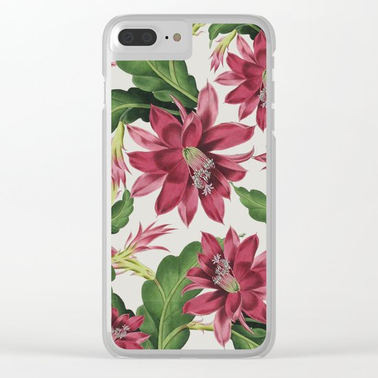 FLOWERS 11b Clear iPhone Case