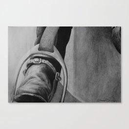 Heels Down Canvas Print