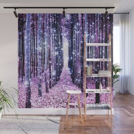 Magical Forest Path Lavender Pink Periwinkle Wall Mural