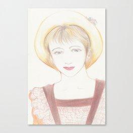 picnic girl Canvas Print
