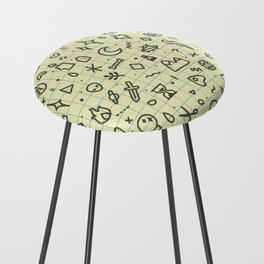 Doodles Pattern Counter Stool