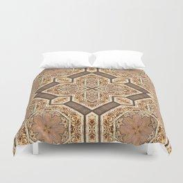 Victorian Art Deco Medieval Pattern light brown SB31 Duvet Cover