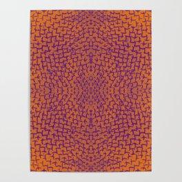 orange and purple pattern Poster