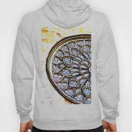Gothic Rose Drawing Cathedral Barcelona Hoody