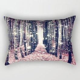 Magical Forest Millennial Pink Pewter Elegance Rectangular Pillow