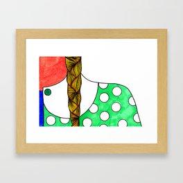 Braid and Polka Dot Framed Art Print