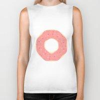 doughnut Biker Tanks featuring #93 Doughnut by MNML Thing