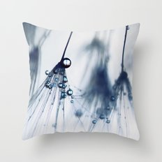 dandelion - blue Throw Pillow