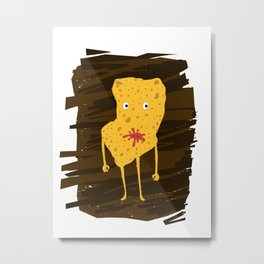 Chips Character Metal Print