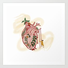 Distance to your Heart Art Print