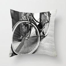 Bike Detail Throw Pillow