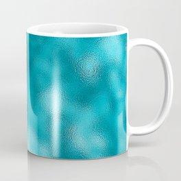 Neon Turquoise Mottled Metallic Foil Coffee Mug