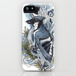 Moon and Smoke iPhone Case