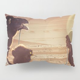 Camels in the sunlight Pillow Sham
