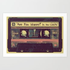 Are You Happy?  |  Cassette Tape Art Print